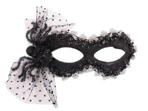 Black Masquerade Mask - Spider Halloween Mask | Masks and Tiaras